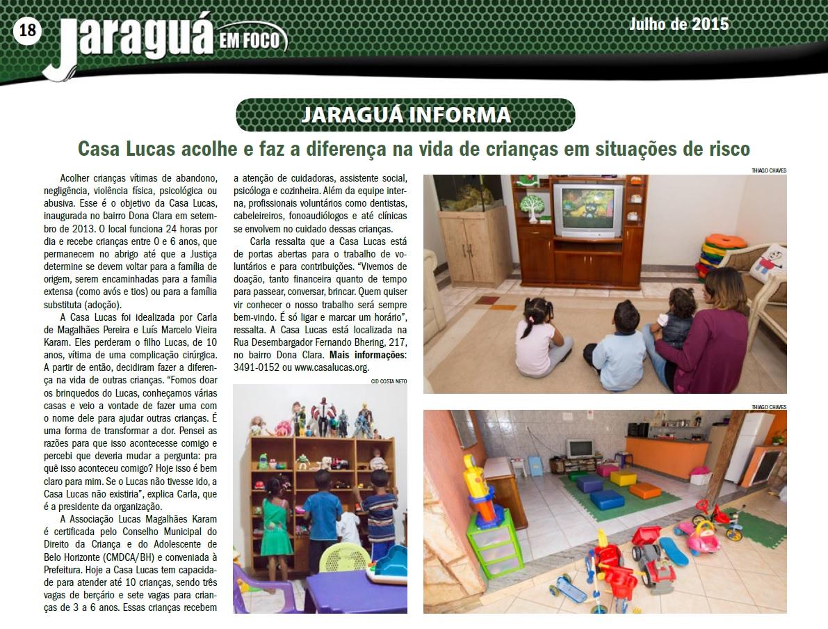 Casa Lucas acolhe e faz a diferença na vida de crianças em situação de risco - Jaraguá em Foco